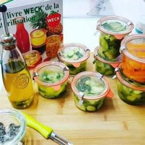 Pot hermètic vidre pur Weck Mold 200 ml got cristall Adobats Conserva Verdures Olie Cuina Residu Zero